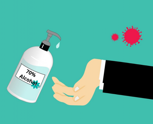 Alcohol based hand sanitiser